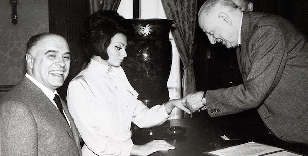 Nozze Sophia Loren Carlo Ponti