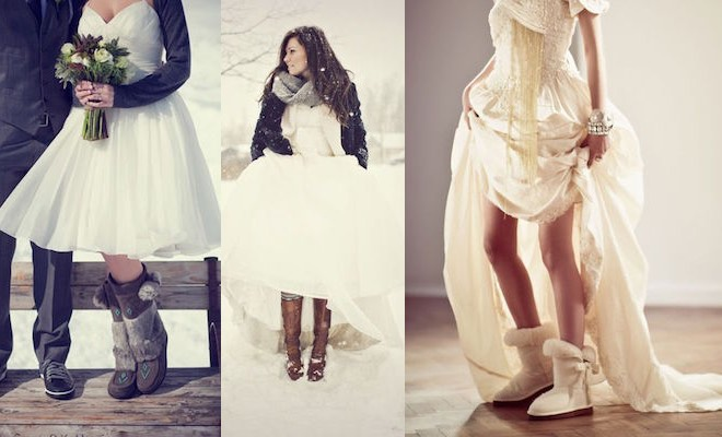 stivali da sposa inverno