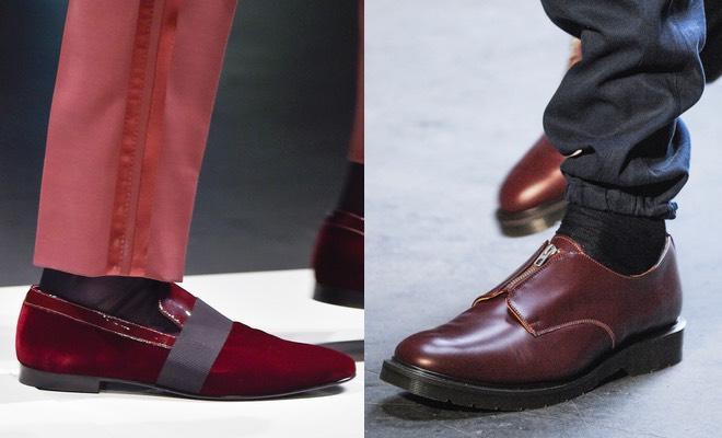 Scarpe bordeaux eleganti uomo