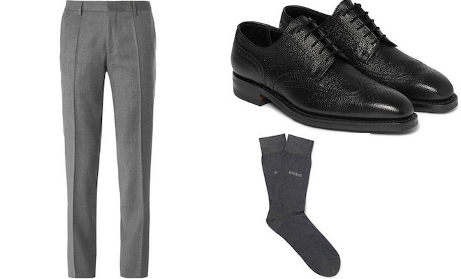 Scarpe calze pantaloni uomo