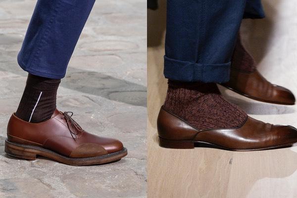Scarpe marroni calze marroni