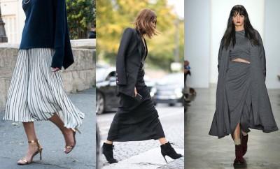 Scarpe moda gonna lunga