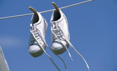 asciugare le scarpe