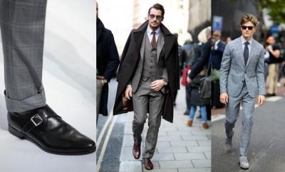 scarpe per abito grigio