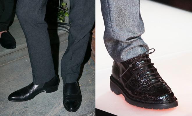 scarpe uomo abiti grigi