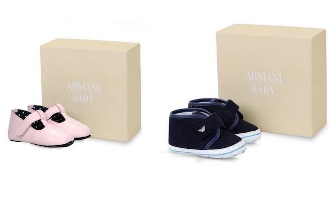 Scarpe neonato Armani
