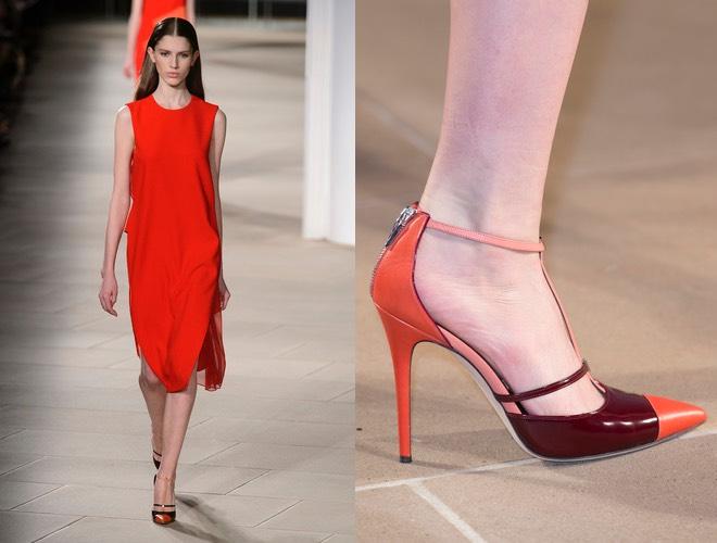 Scarpe da abbinare ad un abito rosso