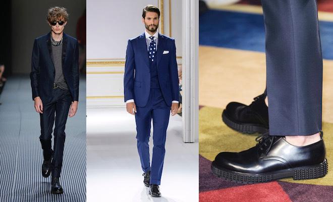 Vestito Matrimonio Uomo Blu Elettrico : Scarpe nere per vestito blu da uomo idee gli