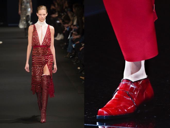 Vestito rosso scarpe armani