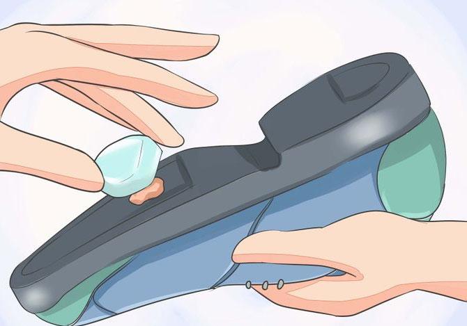 rimuovere-gomma-con-ghiaccio