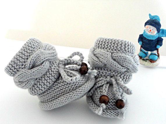 scarpe neonato in maglia
