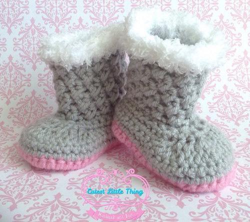 scarpe neonato uncinetto
