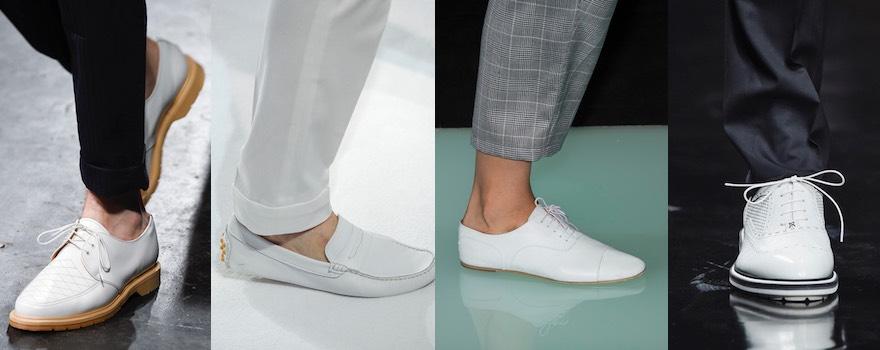 Scarpe bianche uomo primavera estate 2016