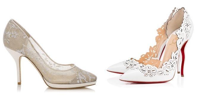 scarpe sposa 2016 pelle e pizzo