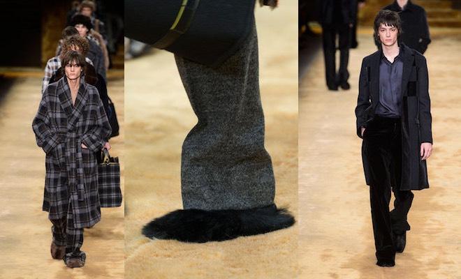 Vestaglia Da Camera Uomo : Fendi uomo inverno 2016 2017 tra pantofole e vestaglie scarpe