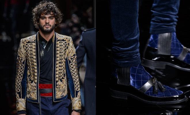 2063143b20 Balmain uomo inverno 2016-2017, scarpe e vestiti da principe azzurro ...