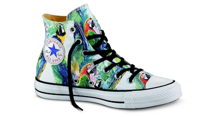 converse all star con farfalle