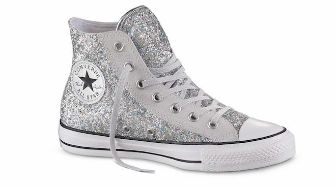 2converse glitter argento