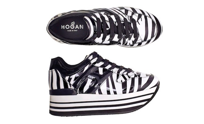 Hogan scarpe sportive zeppa