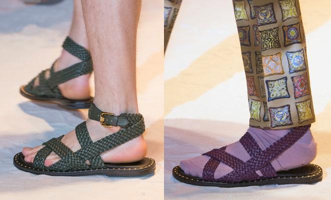 Sandali colorati uomo