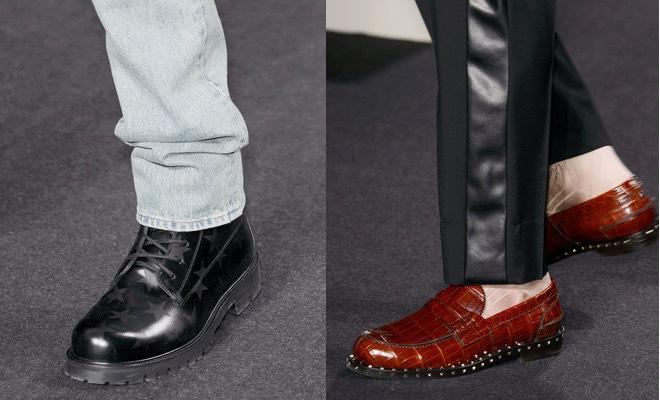 Mocassini e scarpe classiche tutte arricchite da piccole borchie e stelle  stampate 2711b97b331