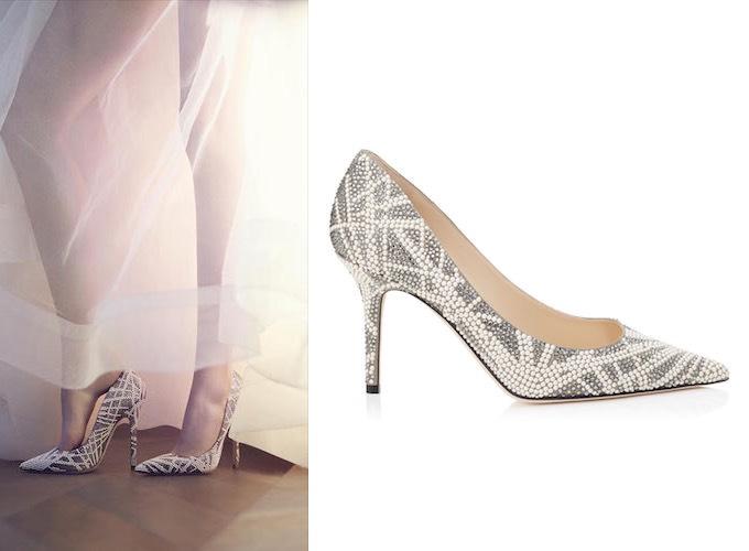 scarpe da sposa chiuse gioiello