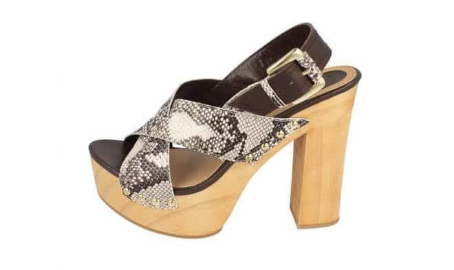 Sandali donna tacco legno Gioseppo