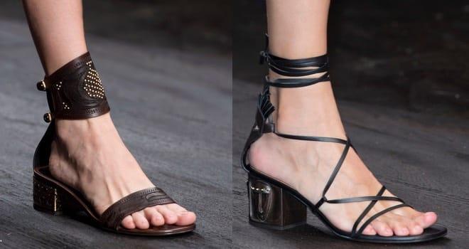 Tacco comodo sandali Valentino 2016
