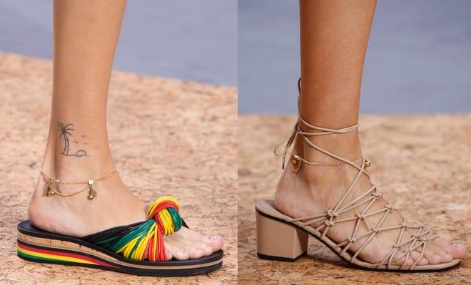 sandali ciabatte cavigliera