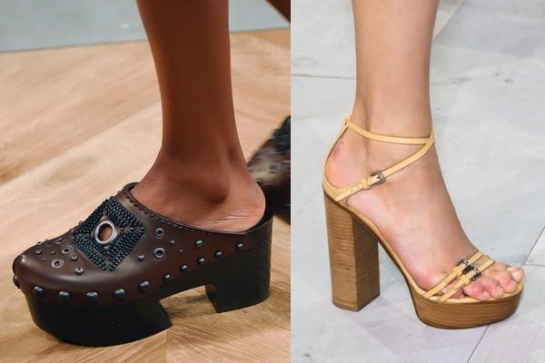 vasta selezione di 76b56 7c9e2 Zoccoli e sandali con il tacco di legno per la primavera ...