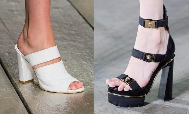 Sandali bianchi con tacco a zeppa per donna Qn8sy