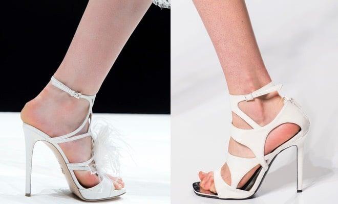 Sandali bianchi tacchi