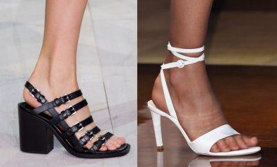 Sandali donna bianchi -neri 2016