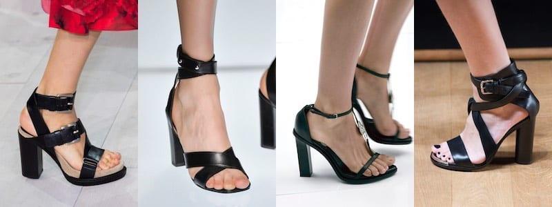 Sandali tacco grosso neri