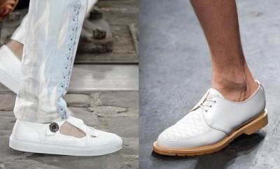 Scarpe bianche estive da uomo