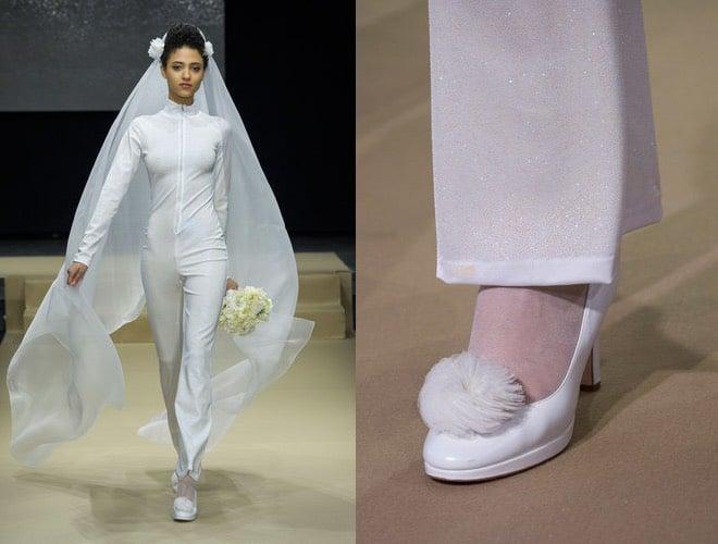 Sposa inverno 2016-2017 abito e scarpe