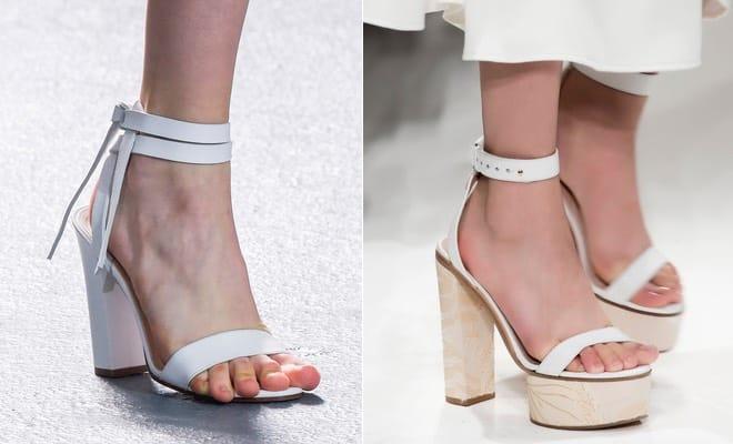 sandali bianchi estate 2016
