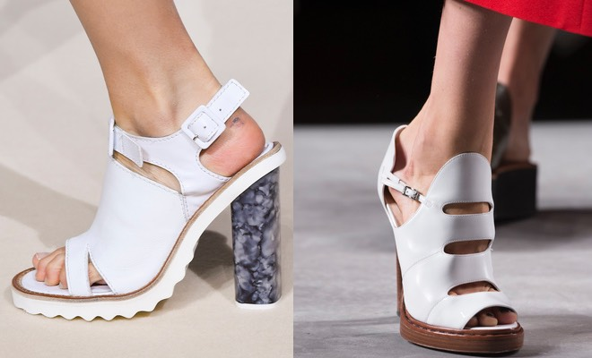 sandali estivi bianchi