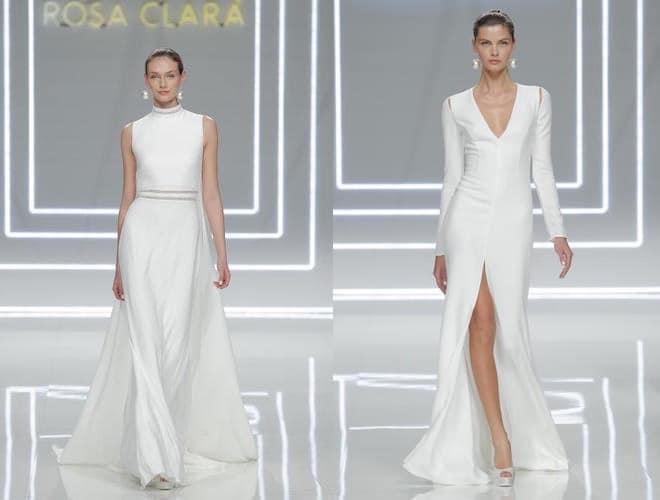 stile squisito donna vestibilità classica Rosa Clará, scarpe alte e abiti da sposa bianchi. Foto ...