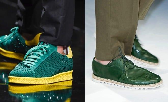 uomo scarpe verdi 2016