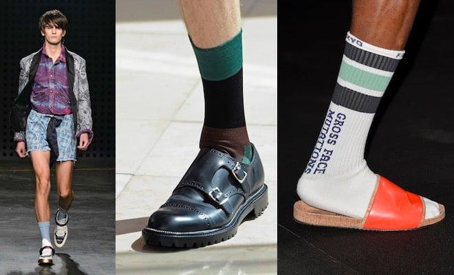 Calze scarpe ciabatte maschili