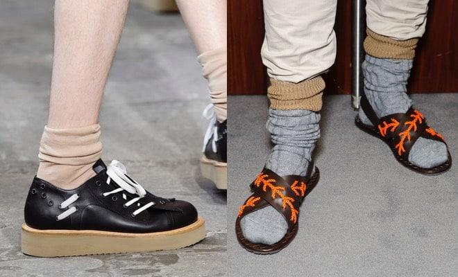 Moda uomo calze sandali scarpe