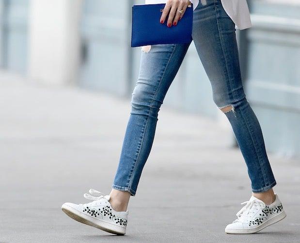 Olivia Palermo scarpe e jeans
