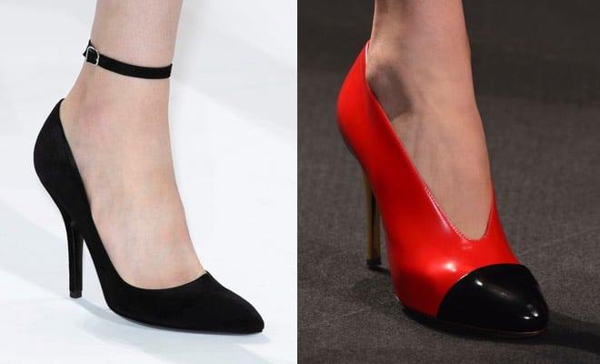 Scarpe dona eleganti a punta