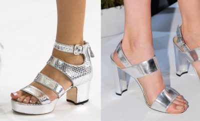 Smalto piedi sandali argento