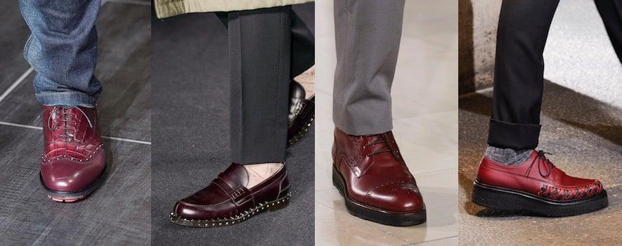 Uomo scarpe firmate bordeaux 2017