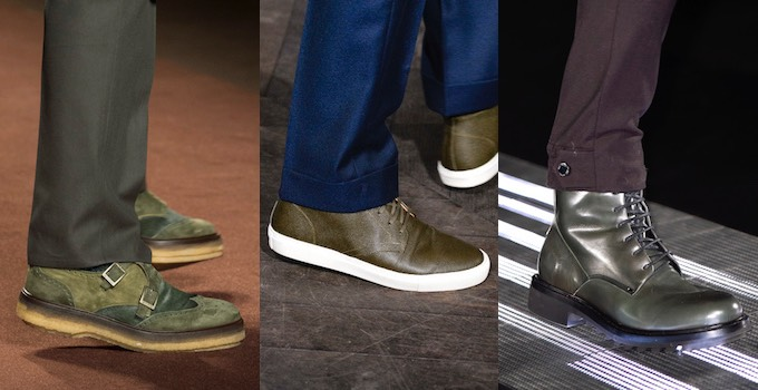 Uomo scarpe verdi invernali 2017