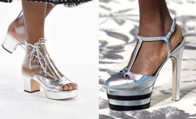 argento scarpe