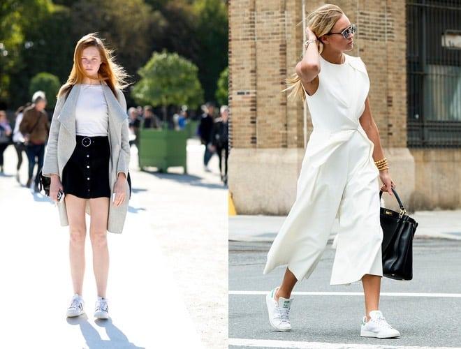 99c1760be7 Donna, 18 idee semplici per abbinare scarpe da tennis bianche ...