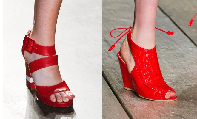 sandali rossi estivi